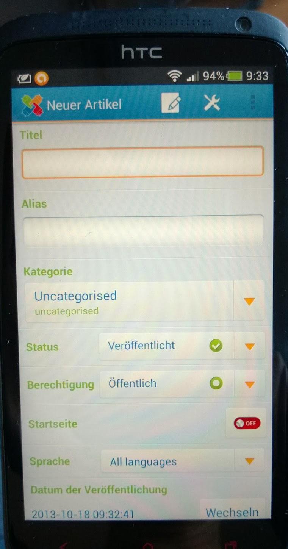 Joooid Handy Erfassungsbild 1