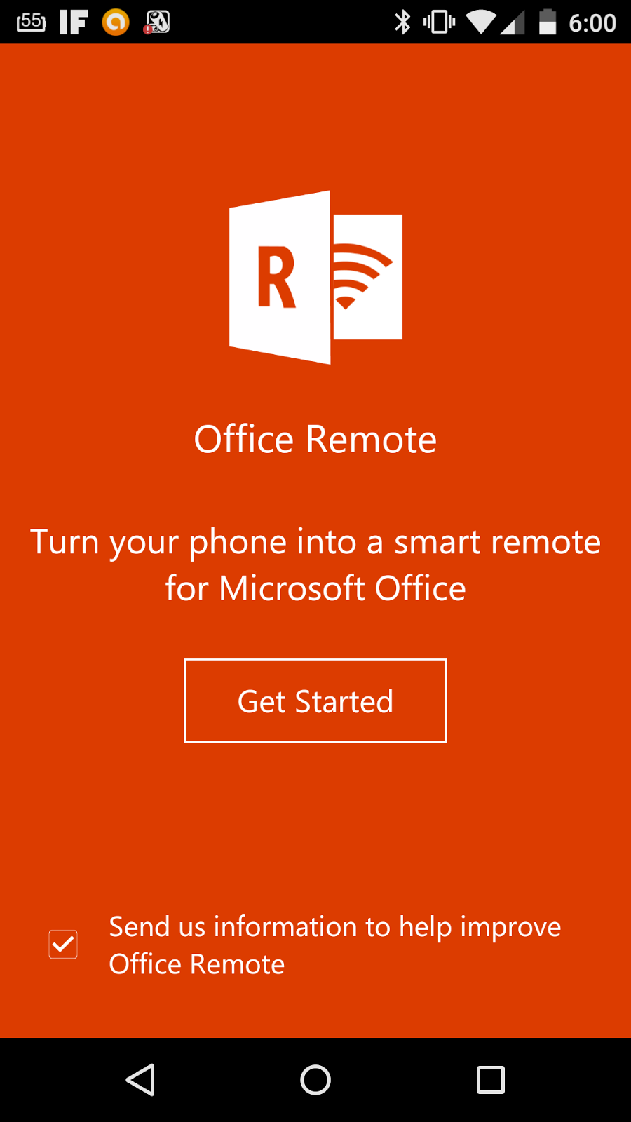 Office Remote Android Handy Installation