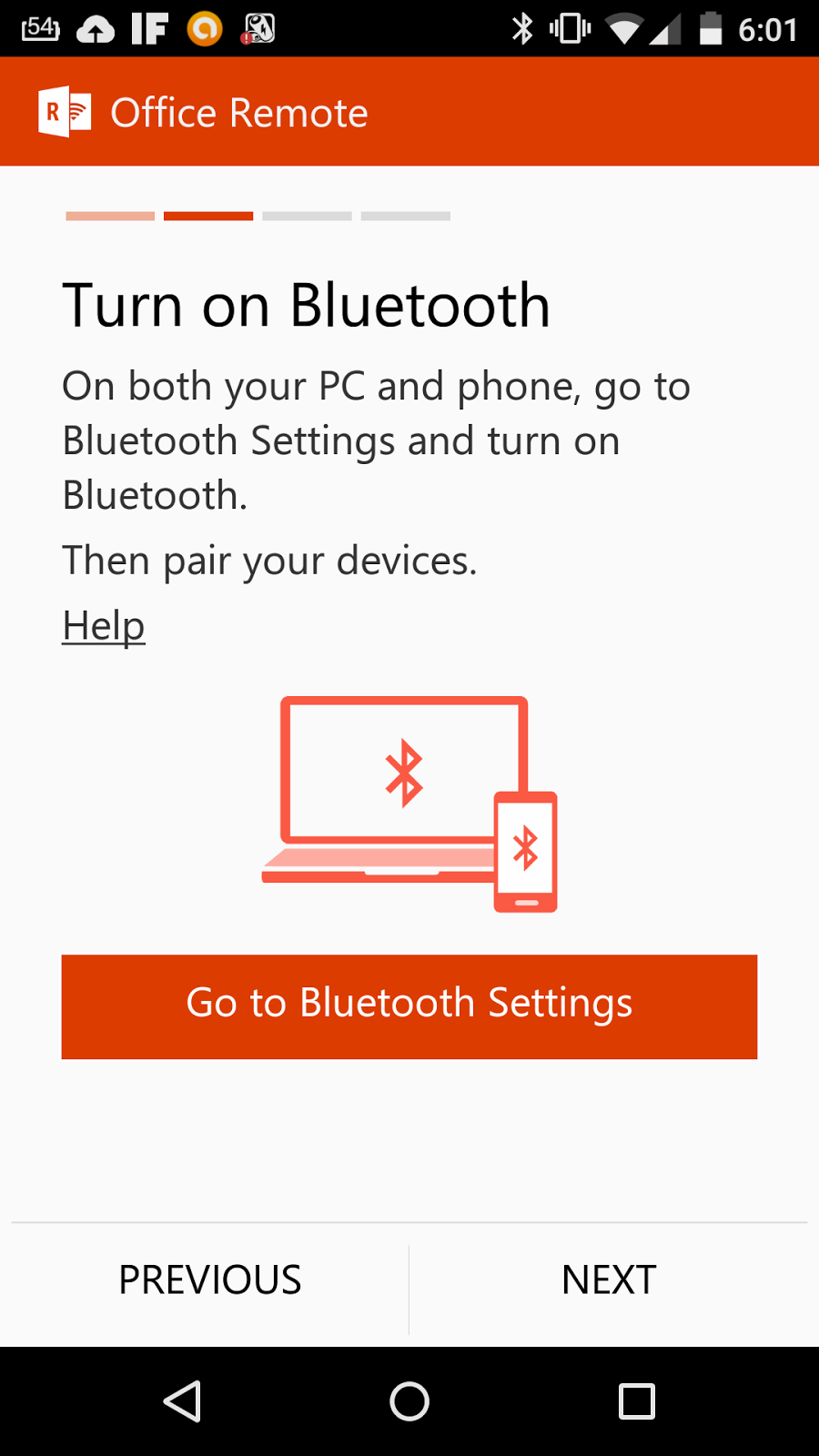 Office Remote Android Handy Bluetooth