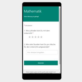 Unterrichts-Evaluation mit Umfrage-Tools von Microsoft und Google