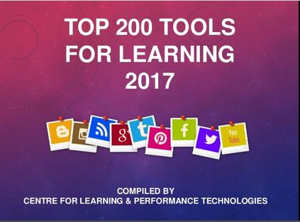 Top 200 Tools for Learning 2017