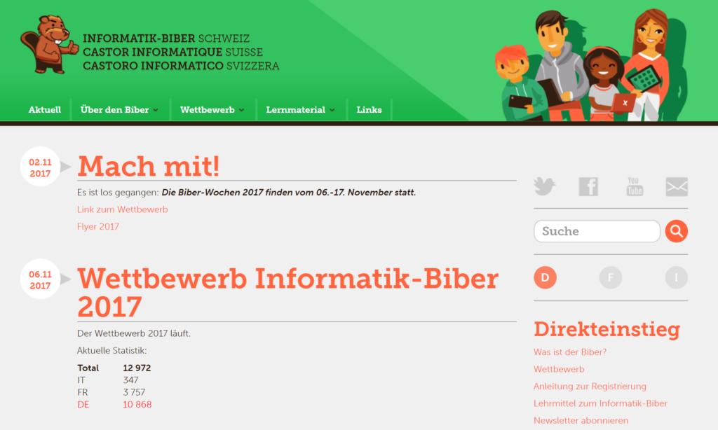 Biber Wettbewerb URL
