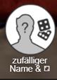 Zufällier Name Symbol