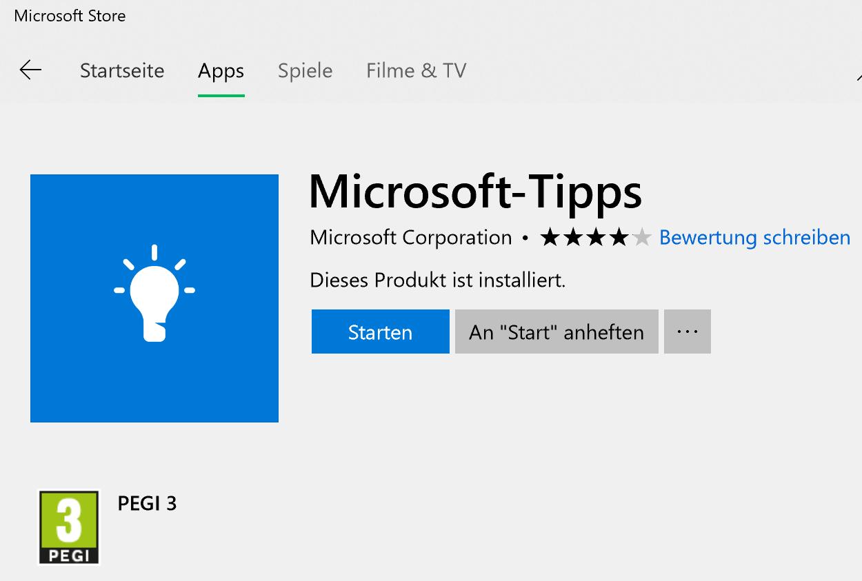 Store Tipp App