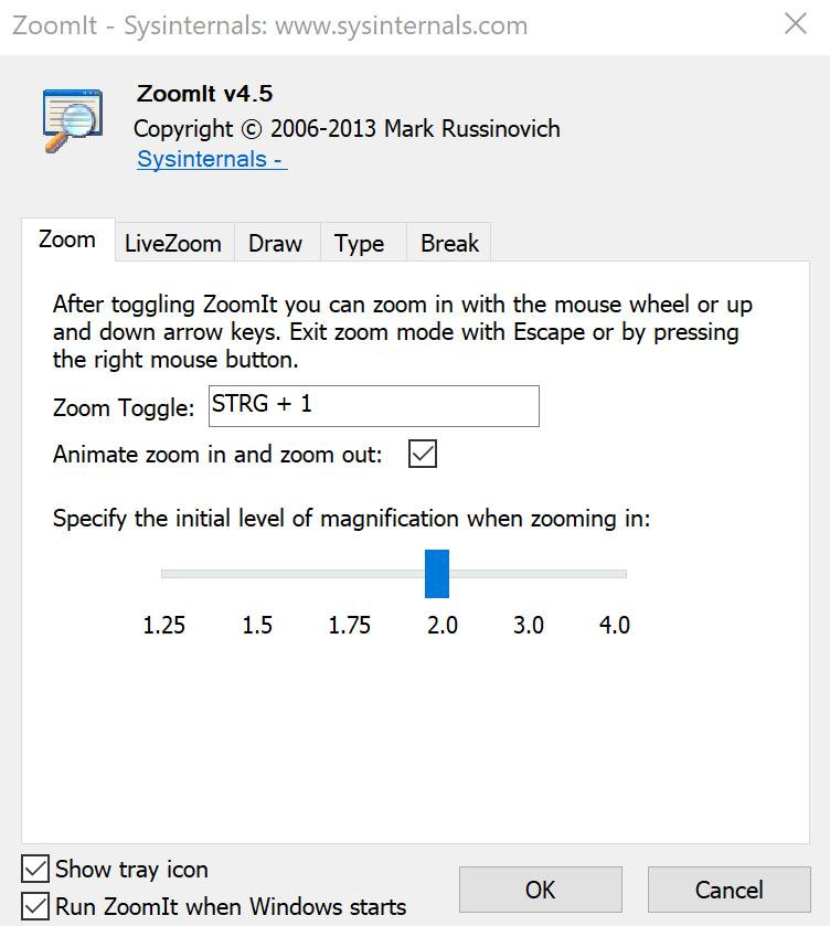 start ZoomIt