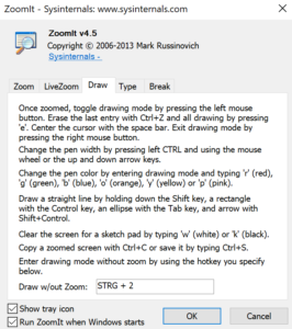 Draw zoomit