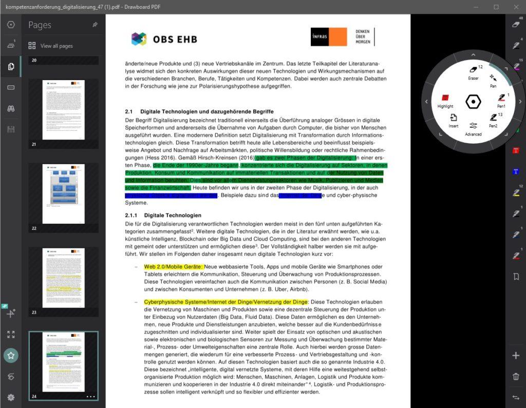 PDF Ansicht Drawboard