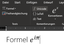 Mathe-Formeln in Word