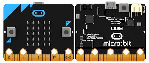 Micro:bit Platine vorne und hinten