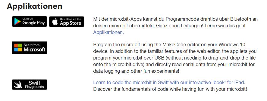 Applikationen die unterstützt werden