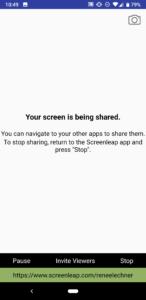 Stop Handy Ansicht Screenleap