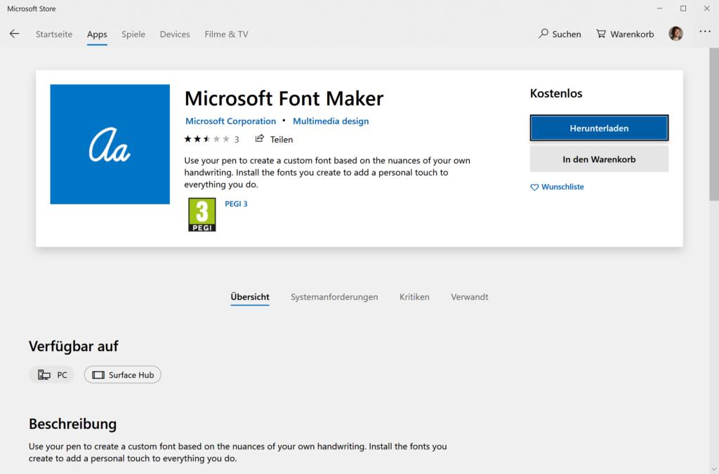 Microsoft Font Maker Store