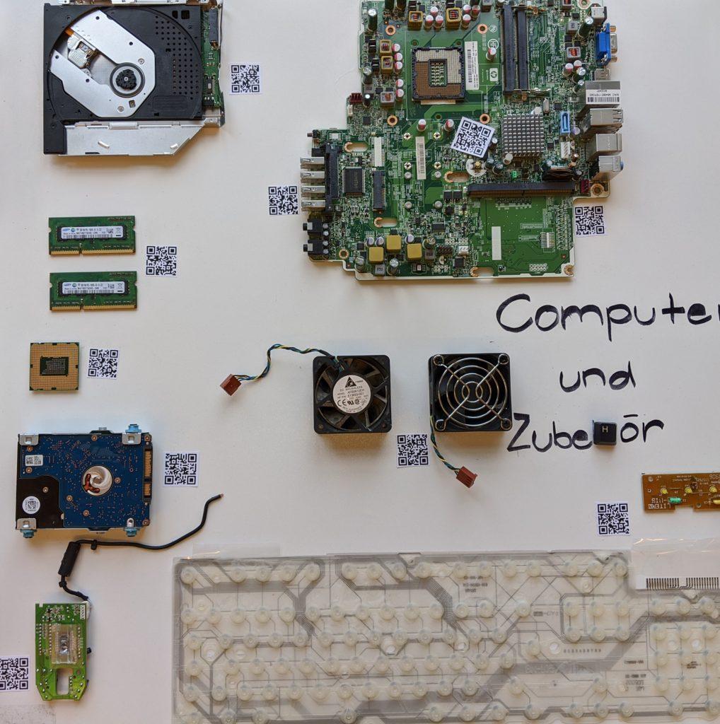 Resultat Computerbild mit QR Code