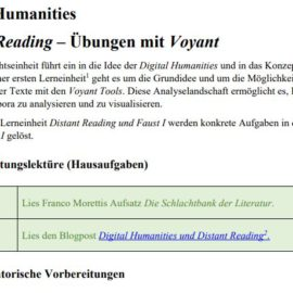 Workshop Distant Reading mit Voyant