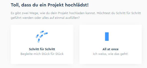Toll, dass du ein Projekt hochlädst.
