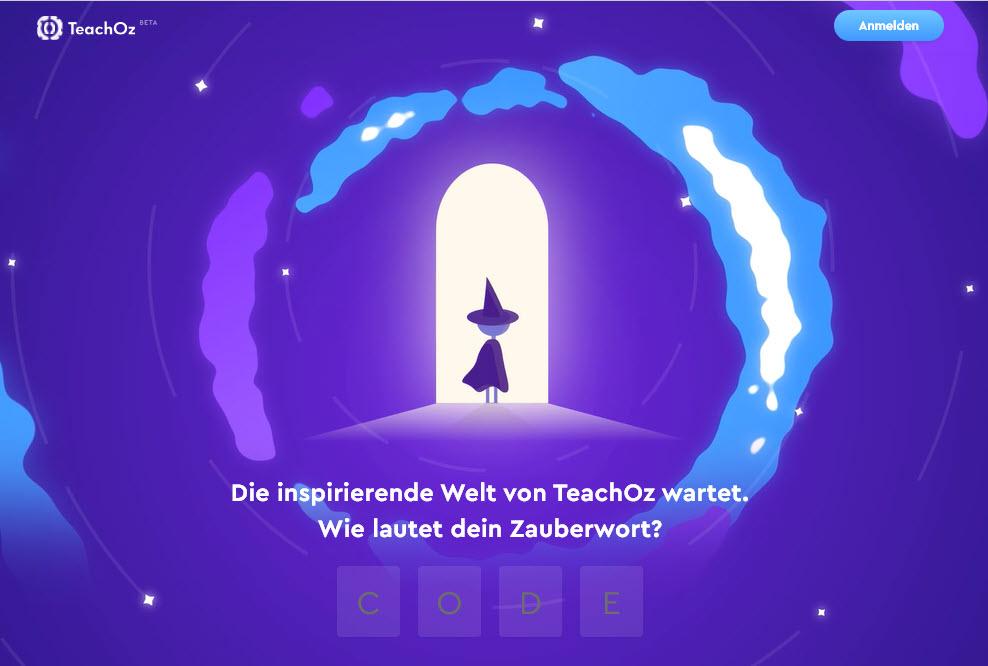 STartbildschirm TeachOZ