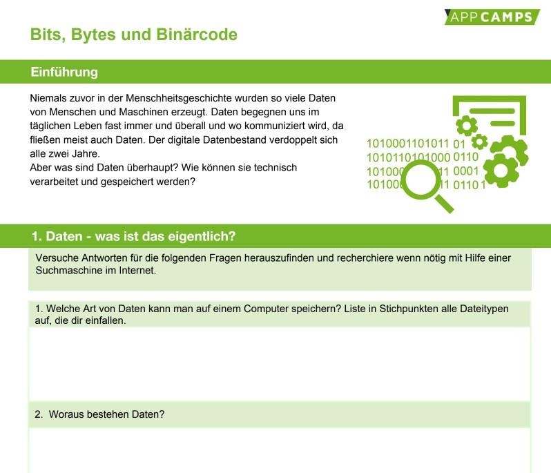 Beispiel PDF Bits, Bytes und Binärcode