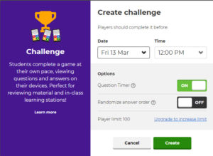 Kahoot Option Challenge