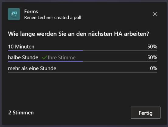 Resultat Umfrage